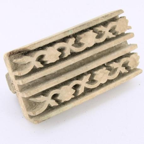 tampon en bois pour textile