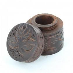 Boite Indienne Bois Sculpté