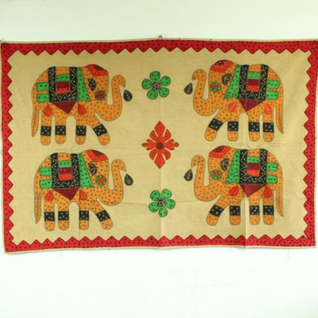 broderie indienne 4 éléphants