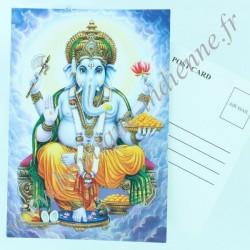 Carte Postale Indienne Ganesh