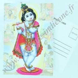 Carte Postale Indienne Krishna