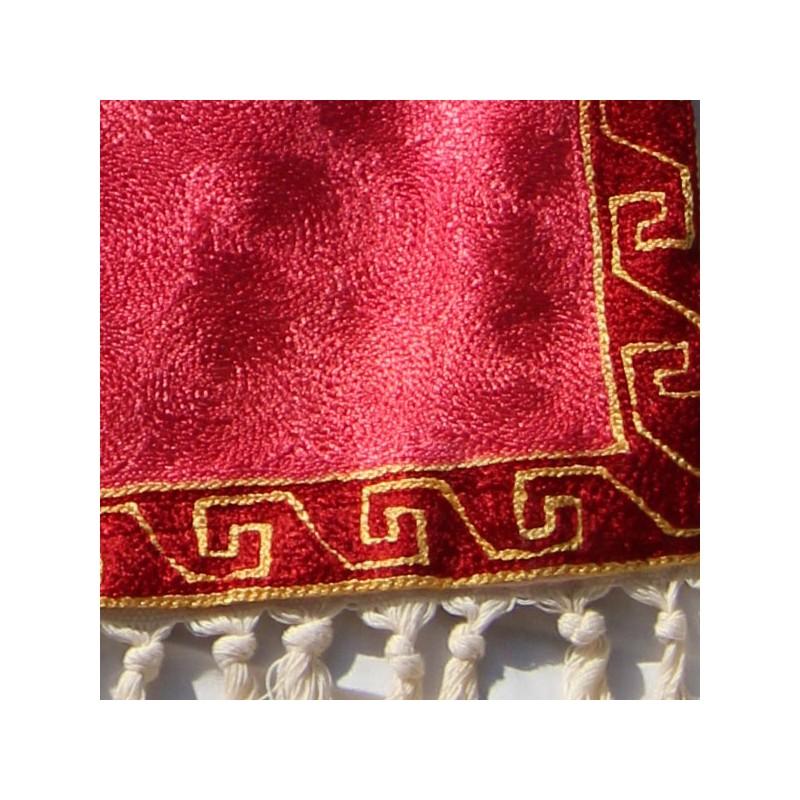 ... u0026gt; Tapis Soie u0026 Laine u0026gt; Tapis artisanal Indien en soie Croix Occitane