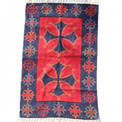Tapis Indien en laine Croix Occitane