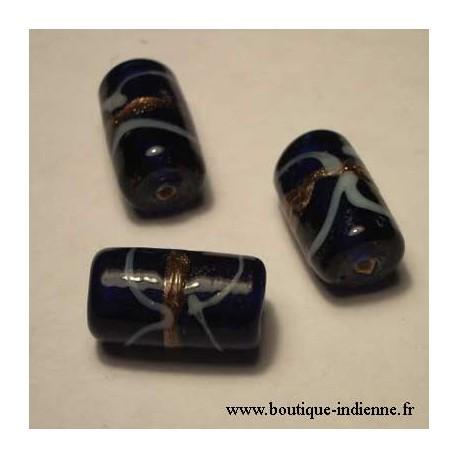 perle en verre cylindre
