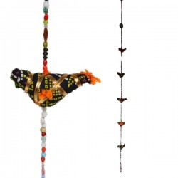 Décoration indienne Mobile Suspension 7 oiseaux clochette