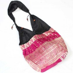 Sac indien à main Satin Rose