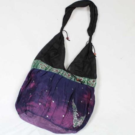sac satin violet Inde