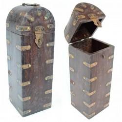 Coffret en bois Artisanat indien pour Bouteille