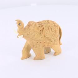 Statue indienne Eléphant en bois sculpté 6cm
