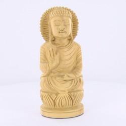 Bouddha en bois sculpté