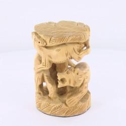Statue en bois Inde