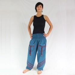 Pantalon Coton Bleu
