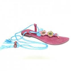 Sandales Bleues à Lanières
