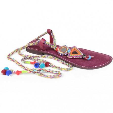 sandales indiennes artisanales