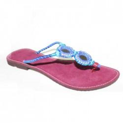 Sandales Type Tong Bleue