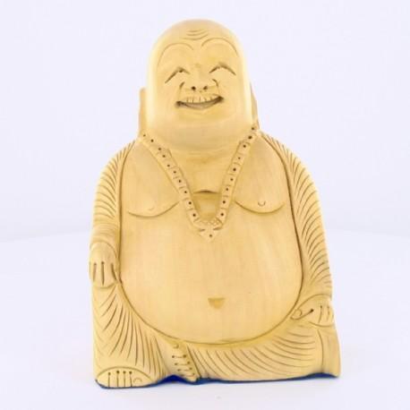 Bouddha rieur bois