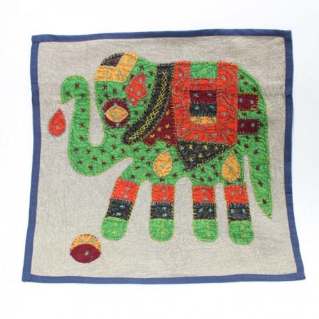 Housse coussin éléphant Inde