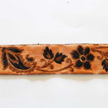 galon motif fleurs