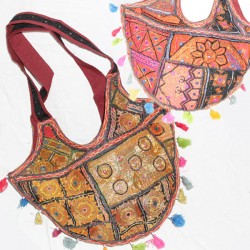 Besace sac indien en patchwork ancien Raja
