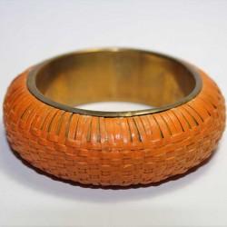 Bracelet indien Paille Orange