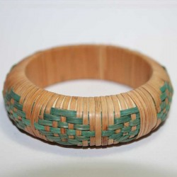 Bracelet indien Paille Nature vert