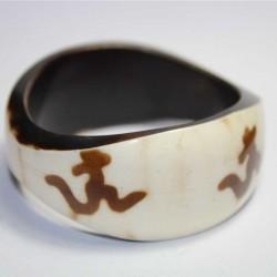 Bracelet indien Blanc Aum
