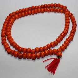 Chapelet - Mala Tibétain Bois Orange