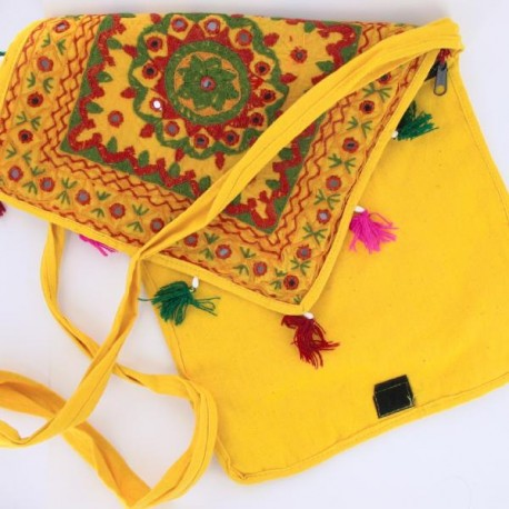 besace indienne coton coloré