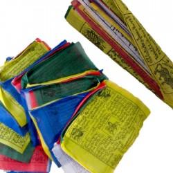 Drapeaux de priére Tibétains - 10 x 10 cm