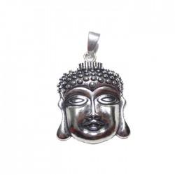 Pendentif argenté tête Bouddha
