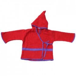 Top Lutin Polaire Enfant Rouge & Bleu