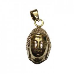 Tête de Bouddha doré Pendentif