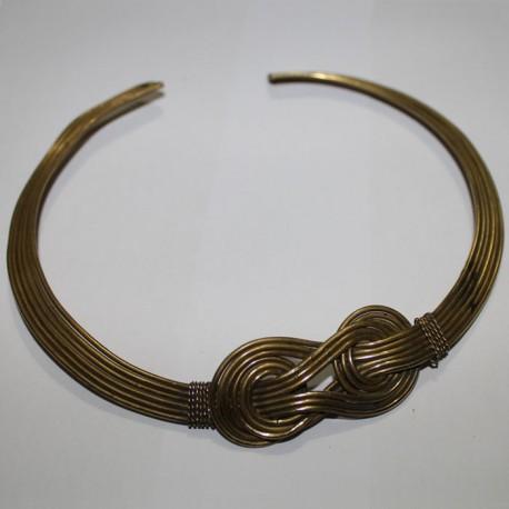 Collier noeud doré Tribal
