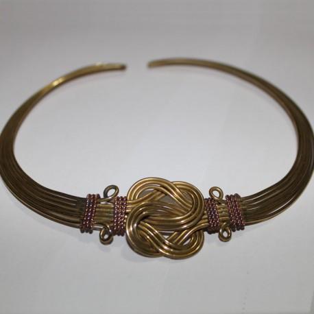 Collier Indien métal doré