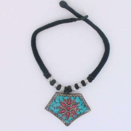 Collier Tibet Turquoise Corail