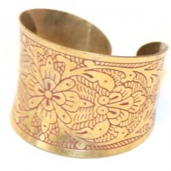 Bracelet indien doré et ciselé