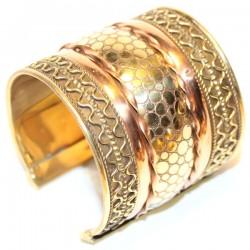 Bracelet indien Cuivre large écaille