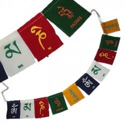 """Mini drapeau """"Om Mani Padme Hum"""""""