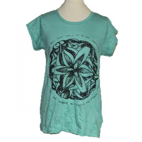 "T-Shirt L/XL Femme ""Mandala Mantra"""