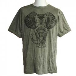 """T-Shirt XL Homme Coton """"Eléphant"""""""