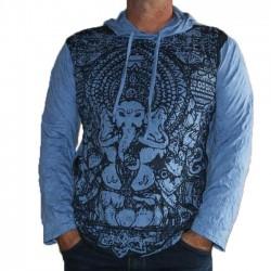 T-Shirt Manche Longue et capuche XL Ganesh Bleu