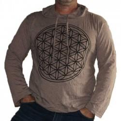 T-Shirt Homme Coton Manche Longue Yantra Marron