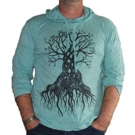 T-Shirt Arbre de vie Manche Longue XL Vert clair