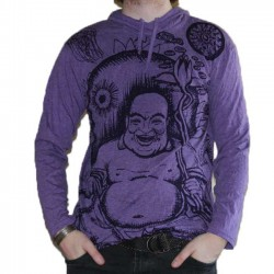 T-Shirt Bouddha Rieur Violet Taille M