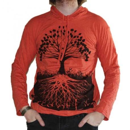 T-Shirt Taille M Manche Longue et capuche Arbre de vie