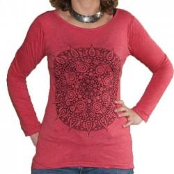 Tunique T-Shirt Coton Taille S/M mandala rose