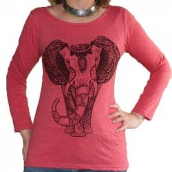 T-Shirt Femme Taille S/M Eléphant rose
