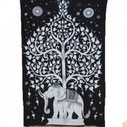 Tenture Arbre de vie Elephant Inde