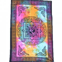 Tenture Yantra Aum Tie and Die