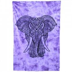 Tenture Elephant Violet